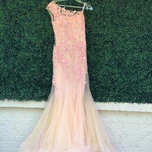 Rachel Allan one shoulder dress